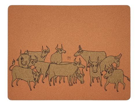 [CNY Limited Edition] Placemat Set A 2pcs - Ox by Jun-Yi
