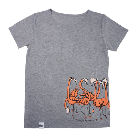 Ladies T-Shirt - Flamingo