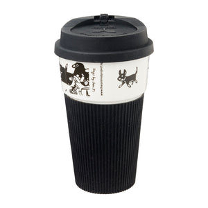 B&W Thermal Mug - Dog