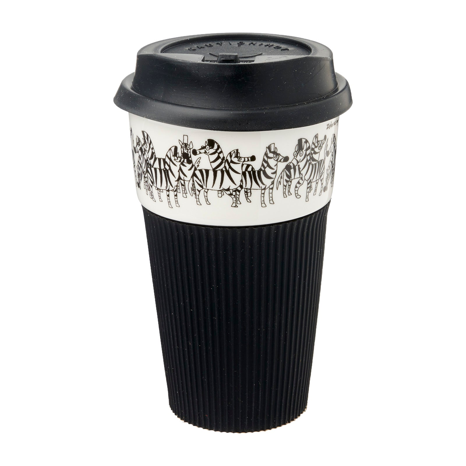 B&W Thermal Mug - Zebra