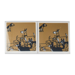 Ceramic Coasters (Set of 2) - Dog