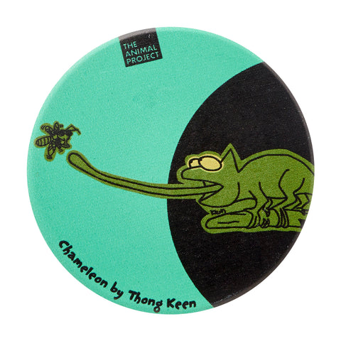 Ceramic Fridge Magnet - Chameleon by Thong Keen