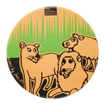 Ceramic Fridge Magnet - Lion