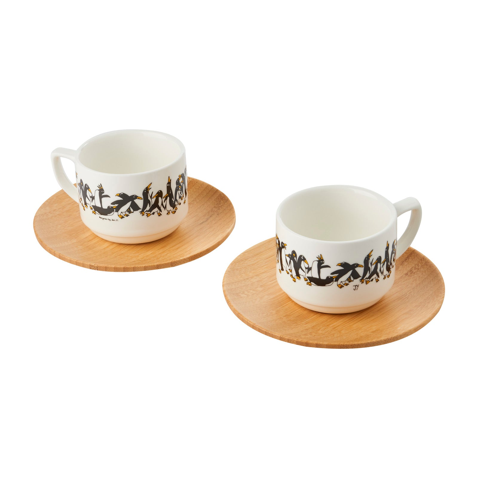 Espresso Cup (Set of 2) - Penguin w/ Yellow Feet