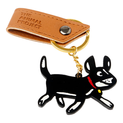 Keychain - Dog w/ Gold Ring