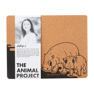 Placemat (Set of 2) - Pygmy Hippo by Jolie