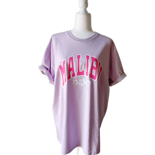 Orchid Purple Malibu California Hibiscus T-Shirt.