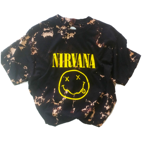 Nirvana Distressed Bleached T-Shirt.
