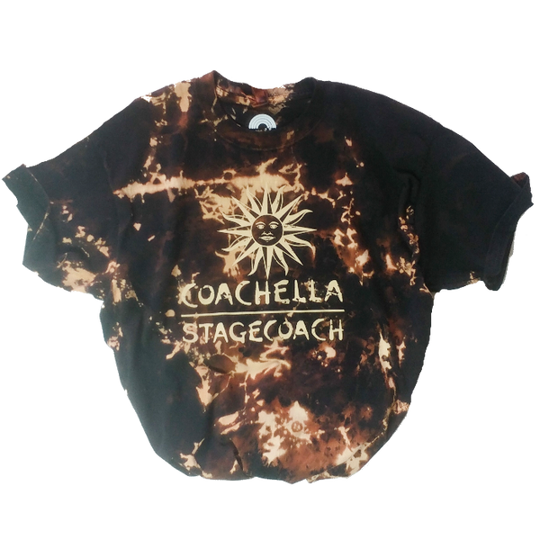 Distressed Coachella Stagecoach Bleached T-Shirt.