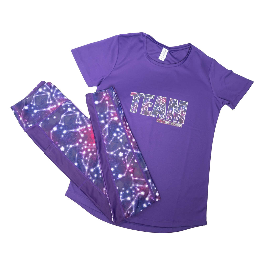 Purple Short Sleeve TEE - Matching Cosmic