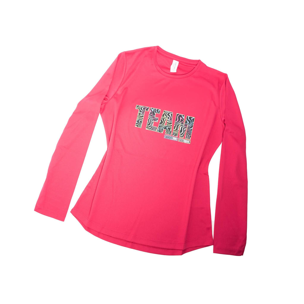 Pink Long Sleeve TEE - Matching Neon Swirl