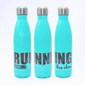 "Stainless Steel Water Bottle ""Running This Show"""
