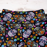 Sugar Skull Leggings Back Zip Pocket