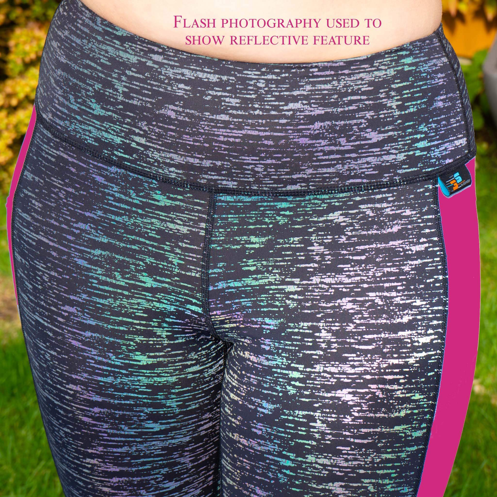 Rainbow Reflect Leggings - colour changing when reflecting light