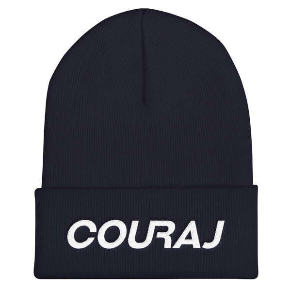 COURAJ Cuffed Beanie | Navy