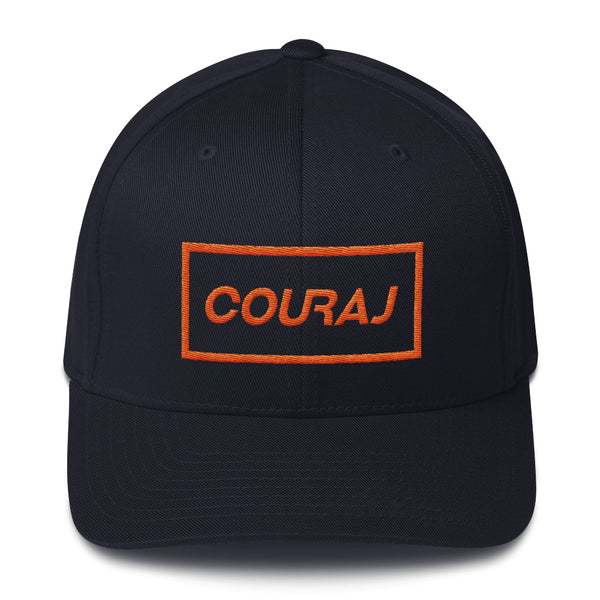 COURAJ FlexFit Hat- Navy Orange