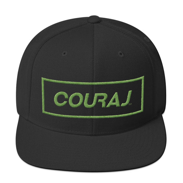 COURAJ Snapback | Black Green