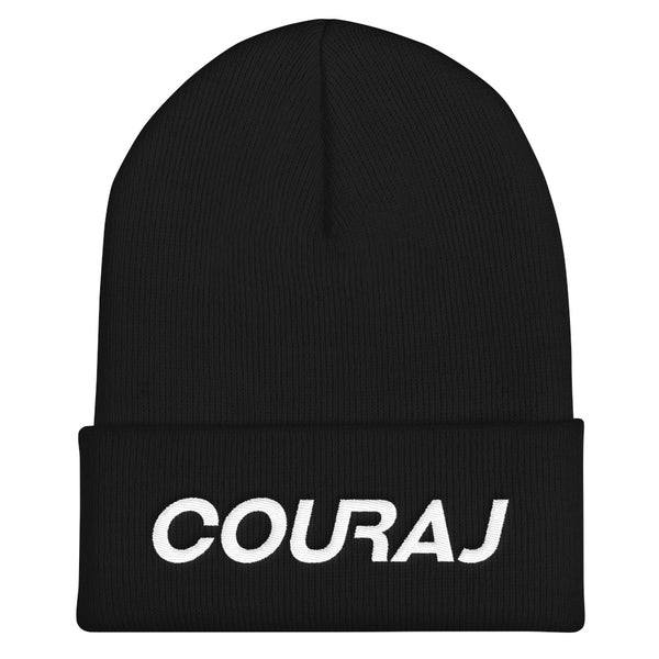 COURAJ Cuffed Beanie | Black