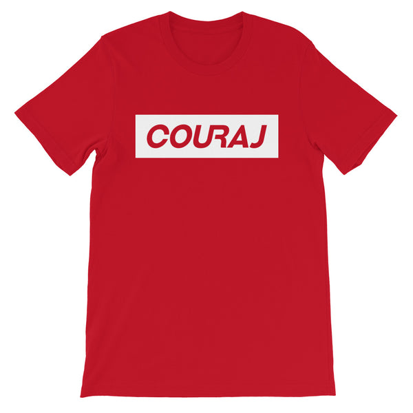 COURAJ Tee - Block Logo - Red