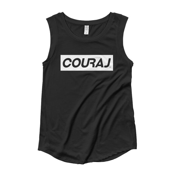 COURAJ Ladies' Muscle Tee | Black