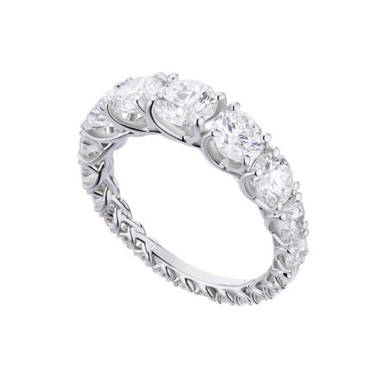 Round Cut Eternity Wedding Band In White Gold