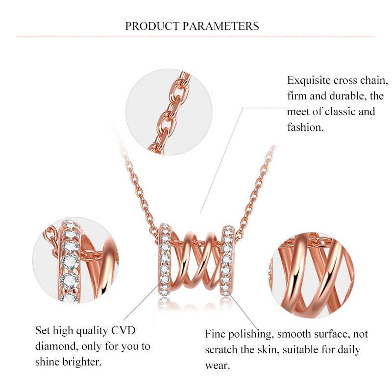 CVD Diamond Hollowed-out Insert Delicate Clavicle Chain