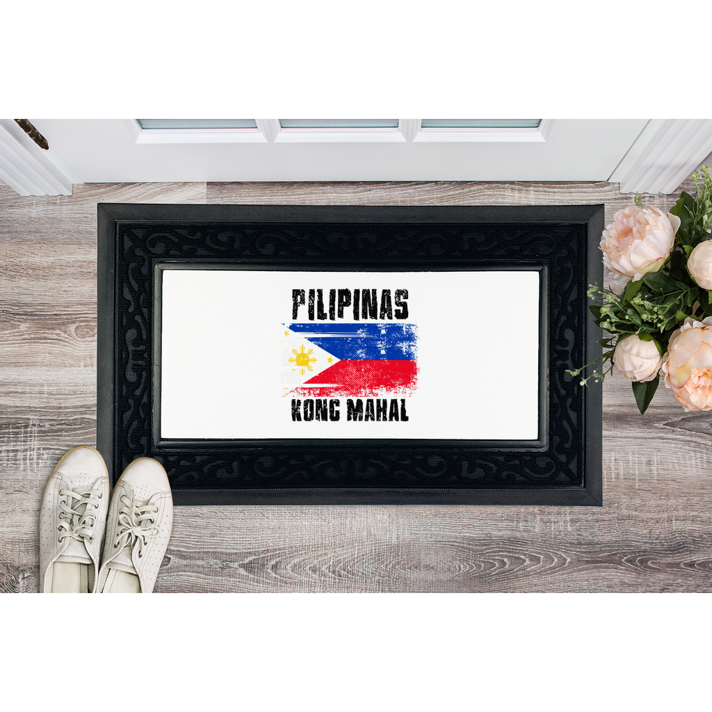 Pilipinas Kong Mahal (Black Text) Sublimation Heavy Duty Door Mat