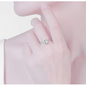 CVD Diamond 2 Carats Four Prong Oval Ring