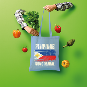 Pilipinas Kong Mahal (White Text) Shopper Tote Bag