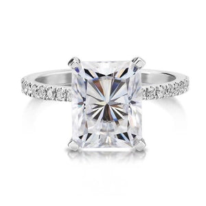 CVD Diamond 2.0CT-5.5CT Sparkly Cushion Cut Ring