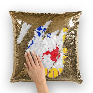 Proud Pinoy Sequin Cushion Cover