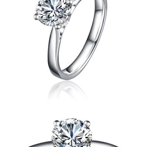 CVD Diamond Ring Classic Four Prong Setting