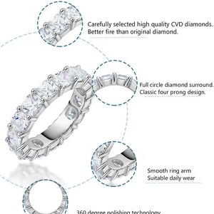 CVD Diamond Classic Full Circle Ring