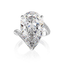 Sona Simulated Diamond 6.5ct Pear Cut Engagement Ring