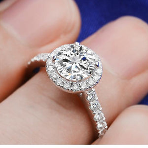 CVD Diamond Four Prong Round Ring