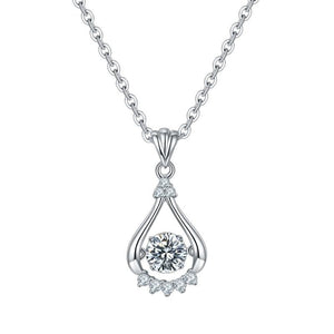 0.5Ct D Color Twinkle Moissanite Diamond Pendant Necklace