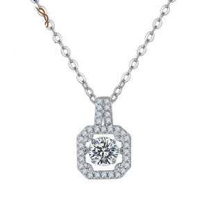 0.5Ct D Color Moissanite Diamond Necklace with Twinkle Setting