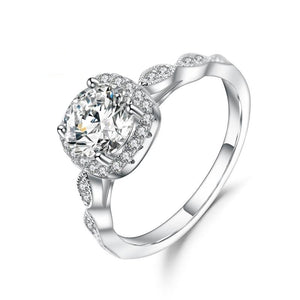 2.0ct Pave Moissanite Diamond Vintage Engagement Ring