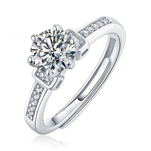 Twinkle Stone 1.0Ct VVS1 Moissanite  Diamond Engagement Ring