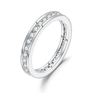 2.0mm Moissanite Round Channel Eternity Ring