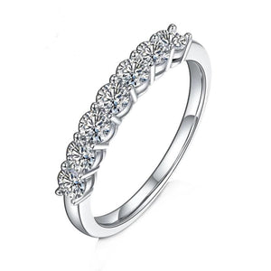 0.7Ct VVS1 Half Eternity Band Moissanite Diamond Wedding Ring