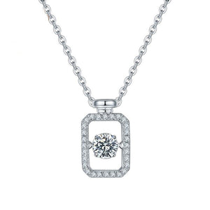 0.5ct 5.0mm Twinkle Setting Moissanite Stone Pendant Necklace