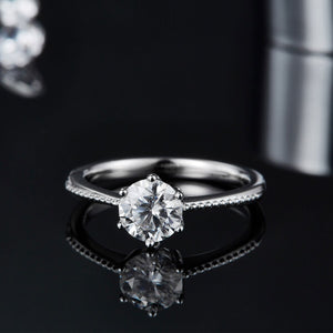 1Ct VVS1 Moissanite Diamond Promise Ring