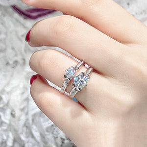 1.0Ct 6.5mm VVS1 Moissanite Diamond Antique Style Ring