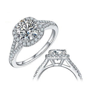 1.5ct 2 ct 3ct D Color Moissanite Diamond Ring