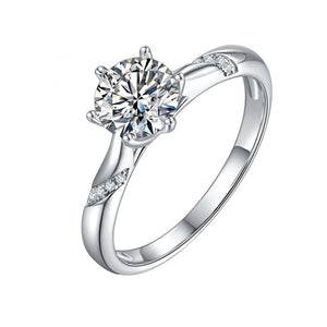 D color Moissanite Diamond Anniversary Ring