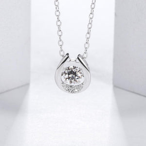 5.0mm 0.5Ct Twinkle Moissanite Diamond Pendant Necklace