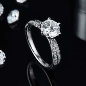 3.0ct Moissanite Diamond Promise Ring Wedding Engagement Ring For Women