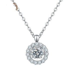 0.5Ct 5.0mm Twinkle Setting Moissanite Diamond Pendant Necklace