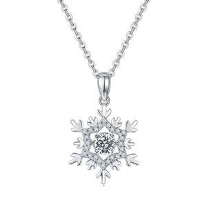 0.5ct 5.0mm Snowflake Moissanite Diamond Pendant Necklace Women